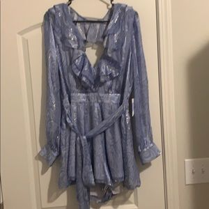 Romper!! Silk and hits at the right length!